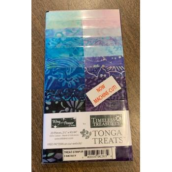 Tonga Batik Fantasy 2 1/2 Inch Strip Roll - 20 pieces