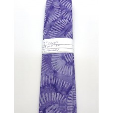 REMNANT - Clothworks Batik FB023-86 Light Purple Lines on Purple Background - 7 Inches x WOF