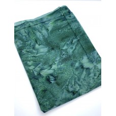 BOLT END - Hoffman Batik 851H-166 - Dark Green Teal Blender - 21 inches