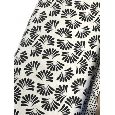 Banyan Batik 81202-990 Black on White Fan Print