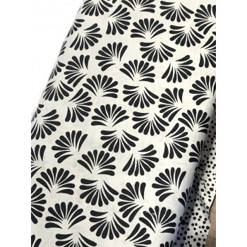 Banyan Batik 81202-990 Black on White Fan Print