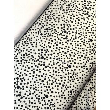 Banyan Batik 81205-990 Black on White Dots Print