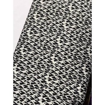 Banyan Batik 81204-990 Black on White Diamonds Print