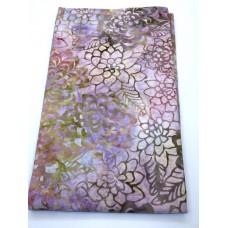 BOLT END - Anthology Batik 12031 -Pink Tan Flowers - 22 Inches
