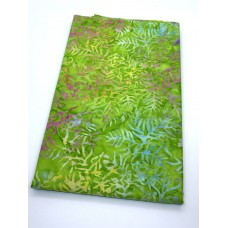 BOLT END - Timeless Treasures Batik B8629 Lucky Multicolor Fronds on Green - 1/2 yd
