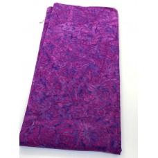 BOLT END - Island Batik 522005431 -Pink on Purple Flowers - 3/4 yd