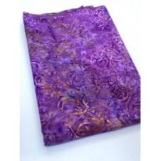 BOLT END - Batik Textiles 4759 - Orange Vines on Purple - 56 Inches