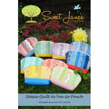 Stasia Quilt As You Go Pouch pattern by Sweet Jane's -  Scrap Friendly