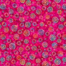 QT Fabrics - Digital - Rythm 27104-P Multicolor Circles on Pink