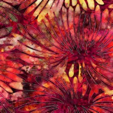 QT Fabrics - Digital - Tropicalia 28188-R Red Flowers