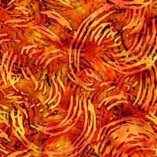 QT Fabrics - Digital - Tropicalia 28192-O Orange Swirls