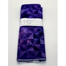 REMNANT - QT Fabrics - Digital - 27881-S Purple Triangles - 11 INCH BY WOF
