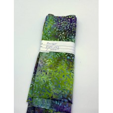 REMNANT - Banyan Batik 81000-1010 - Green Purple Ketan - 7 INCHES