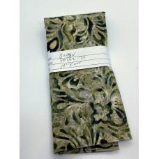 REMNANT - Banyan Batik 80262-74 - Dark Green Print on Olive - 10 INCHES