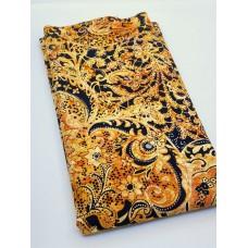 BOLT END - Banyan Batik 81221-59 - Orange Lustre Metallic - 27 Inches