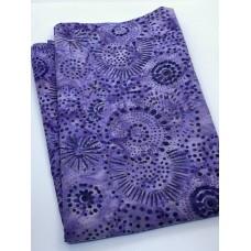 BOLT END - Benartex Batik 03775-66 Spirals Dots on Purple - 1 yd
