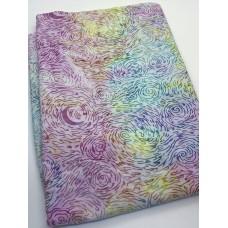BOLT END - Island Batik 122002826 - Multicolor Swirls on White - 40 Inches