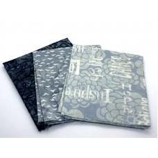 Batik One Third Yard Bundle OT316 - Grey Blue Tones - 1 Yard Total