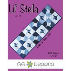 Lil' Stella Pattern by GE Designs - Charm Square Friendly