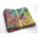 Batik One Third Yard Bundle OT302 - Pink, Turquoise & Green Tones - 1 Yard Total