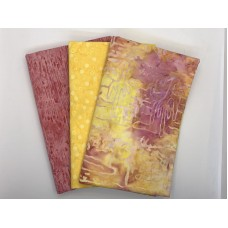 3 Yard Batik Bundle 3YD123 - Yellow Peach Pink