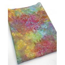 BOLT END - Island Batik 1112014876 - 70s Vibe Pattern on Multicolor - 1/2 yd