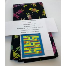 Barns & Terraces Quilt Kit  - Brights with Black