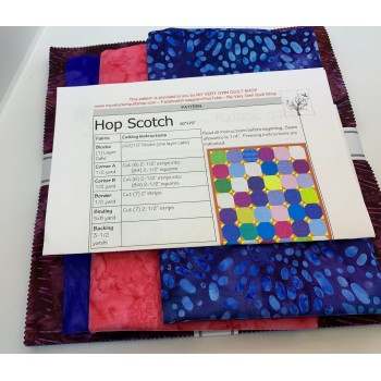 Hop Scotch Quilt Kit using Robert Kaufman Garden Style Squares