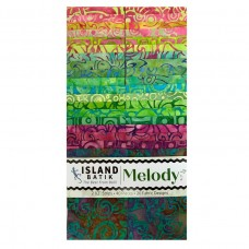 """Island Strip Pack from Island Batik - (40) 2 1/2"""" Strips - Melody Collection"""
