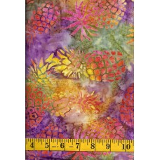 Michael Miller Batik BT8505-VIOL - Orange Pineapples on Purple, Green & Yellow