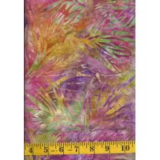 Michael Miller Batik BT8506-ORCH - Palm Bloom in Pink, Green, Yellow & Purple