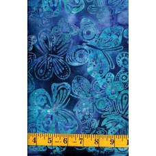 Michael Miller Batik BT8507-INDI - Blue & Turquoise Butterflies