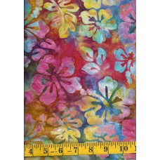 Michael Miller Batik BT8511-CALY - Multi Color Hibiscus