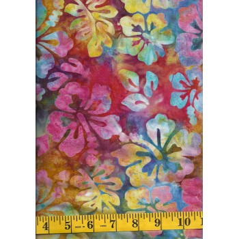 Michael Miller Batik BT8511-CALY - Multi Color Hibiscus
