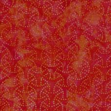 REMNANT - Maywood Batik MASB18-024 - Orange Sparklet Pattern - 8 Inch x WOF