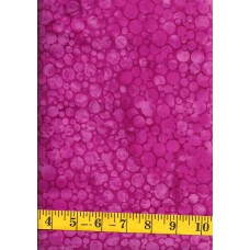 Island Batik Black Pearl 111905330 Mini Bubbles in Bright Pink