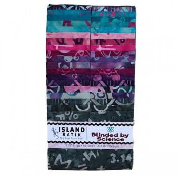 """Island Strip Pack from Island Batik - (40) 2 1/2"""" Strips - Blinded by Science Collection"""