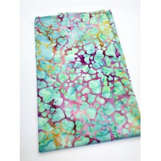 BOLT END - Island Batik 1120111827 - Turquoise Hearts on Pink - 1/2 yd
