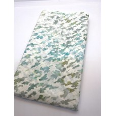 BOLT END - Indonesian 9430H Teal Turquoise Print - 33 Inches