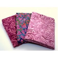 Batik Half Yard Bundle HY377 - Pink Purple - 1.5 Yards Total
