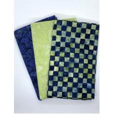 3 Yard Batik Bundle 3YD140 - Green Dark Blue
