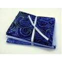 Three Batik Fat Quarters 307C - Blue Tones