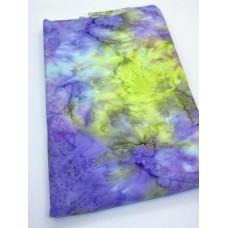 BOLT END - Batik Textiles BT5620 - Multicolor Blender Purple Green - 1 1/4 yd