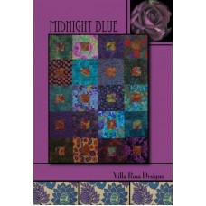 Midnight Blue pattern card by Villa Rosa Designs - 6 Pack or Fat Quarter Friendly Pattern
