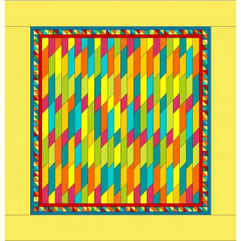 Jelly on the Fence pattern by Stitchin Tree - Jelly Roll Friendly Color Pattern printed to order