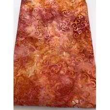 """BOLT END - Anthology Batik 16224 Pink Orange Print - 33"""""""