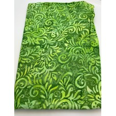 "BOLT END - Banyan Batik 80422-73 - Lime on Green - 28"""