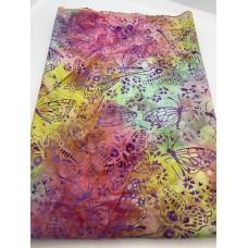 "BOLT END - Island Batik 121711849 Rainbow Colored Butterflies Print - 41"""