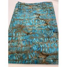 "BOLT END - Island Batik 121921550 Brow Turquoise Feathers - 22"""