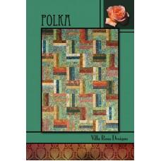 Polka pattern card by Villa Rosa Designs - Jelly Roll Friendly Pattern